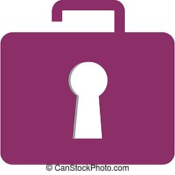 Briefcase lock logo concept