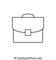 Briefcase outline icon