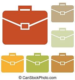 Briefcase sign illustration