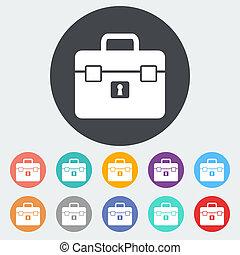 Briefcase single icon.