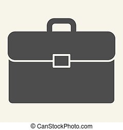 Briefcase solid icon. Bag vector illustration isolated on white. Portfolio glyph style design, designed for web and app. Eps 10.