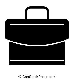 Briefcase solid icon. Case vector illustration isolated on white. Bag glyph style design, designed for web and app. Eps 10.