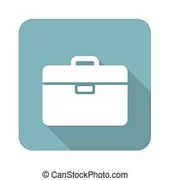 Briefcase square icon