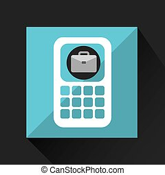 briefcase technology icon