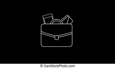 Briefcase Thin Icon With Alpha Channel
