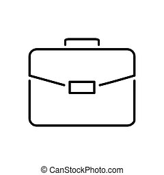 Briefcase Thin Line Vector Icon.