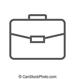 Briefcase Thin Line Vector Icon