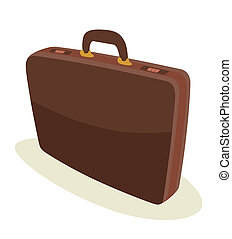 briefcase - brown leather briefcase for business men