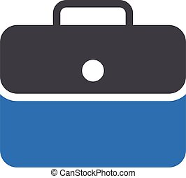 briefcase vector glyph colour icon