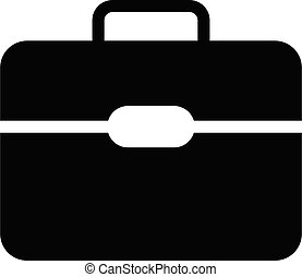 briefcase vector glyph flat  icon