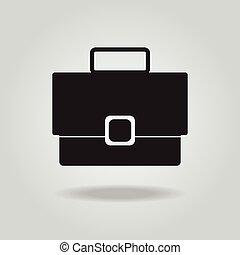 Briefcase vector icon, Bag vector icon