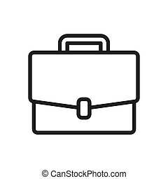 Briefcase vector icon in modern design style for web site and mobile app