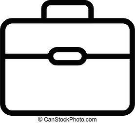briefcase vector thin line icon