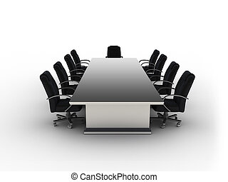 briefing - 3d rendering Session table on white background