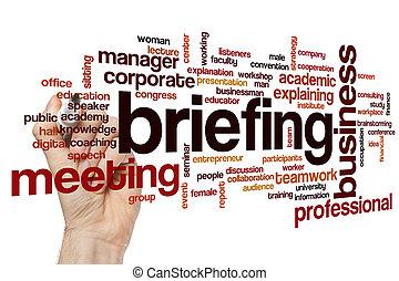 briefing, concept, mot, nuage