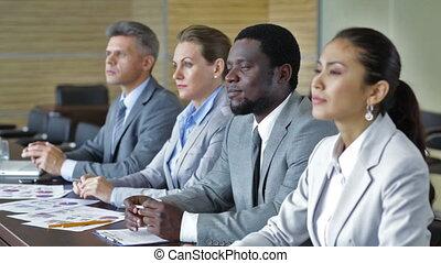 Briefing - International business group attending a...