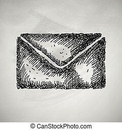 briefkuvert, ikone