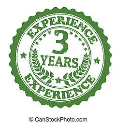 briefmarke, 3, erfahrung, jahre