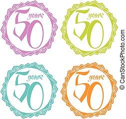 briefmarke, 50, jahre