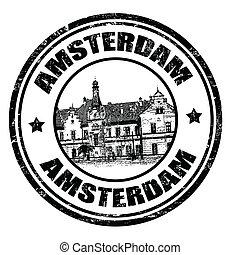 briefmarke, amterdam