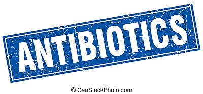 briefmarke, antibiotika, quadrat