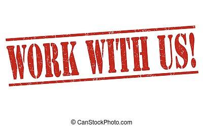briefmarke, arbeit, oder, uns, zeichen
