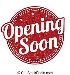 briefmarke, bald, öffnung