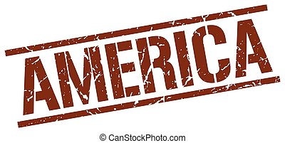 briefmarke, brauner, amerika, quadrat