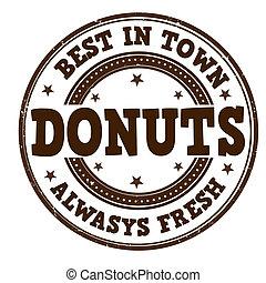 briefmarke, donuts