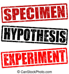briefmarke, exemplar, hypothesis, versuch
