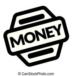 briefmarke, geld, schwarz