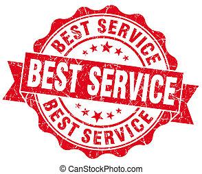 briefmarke, grunge, am besten, service