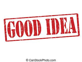 briefmarke, guten, idee