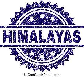 briefmarke, himalayas, textured, grunge, siegel