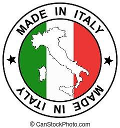"""briefmarke, """", italien, gemacht"""
