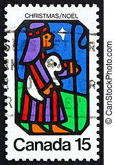 briefmarke, kanada, 1973, schafhirte, und, stern,...