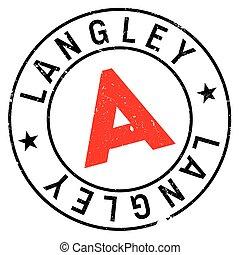 briefmarke, langley, gummi, grunge