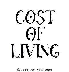 briefmarke, lebensunterhalt, weißes, kosten