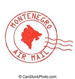 briefmarke, montenegro, oder, zeichen