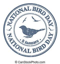 briefmarke, national, vogel, tag
