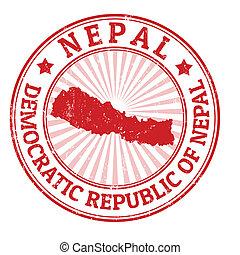 briefmarke, nepal