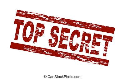 briefmarke, oberseite, -, geheimnis