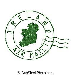 briefmarke, oder, irland, zeichen