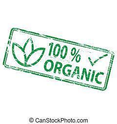 briefmarke, organische