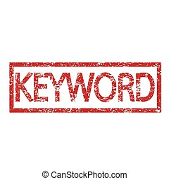 briefmarke, text, schlüsselwort