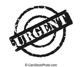 briefmarke, \'urgent\'