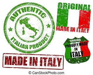 briefmarken, gemacht, italien