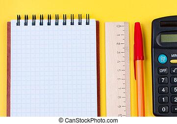 briefpapier, close-up., aantekenboekje