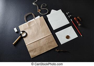 briefpapier, ouderwetse , leeg
