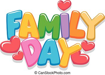 brieven, dag, gezin, 3d